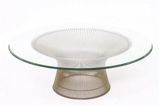 Warren Platner Knoll Steel Glass Low Coffee Table Jul 14 2019