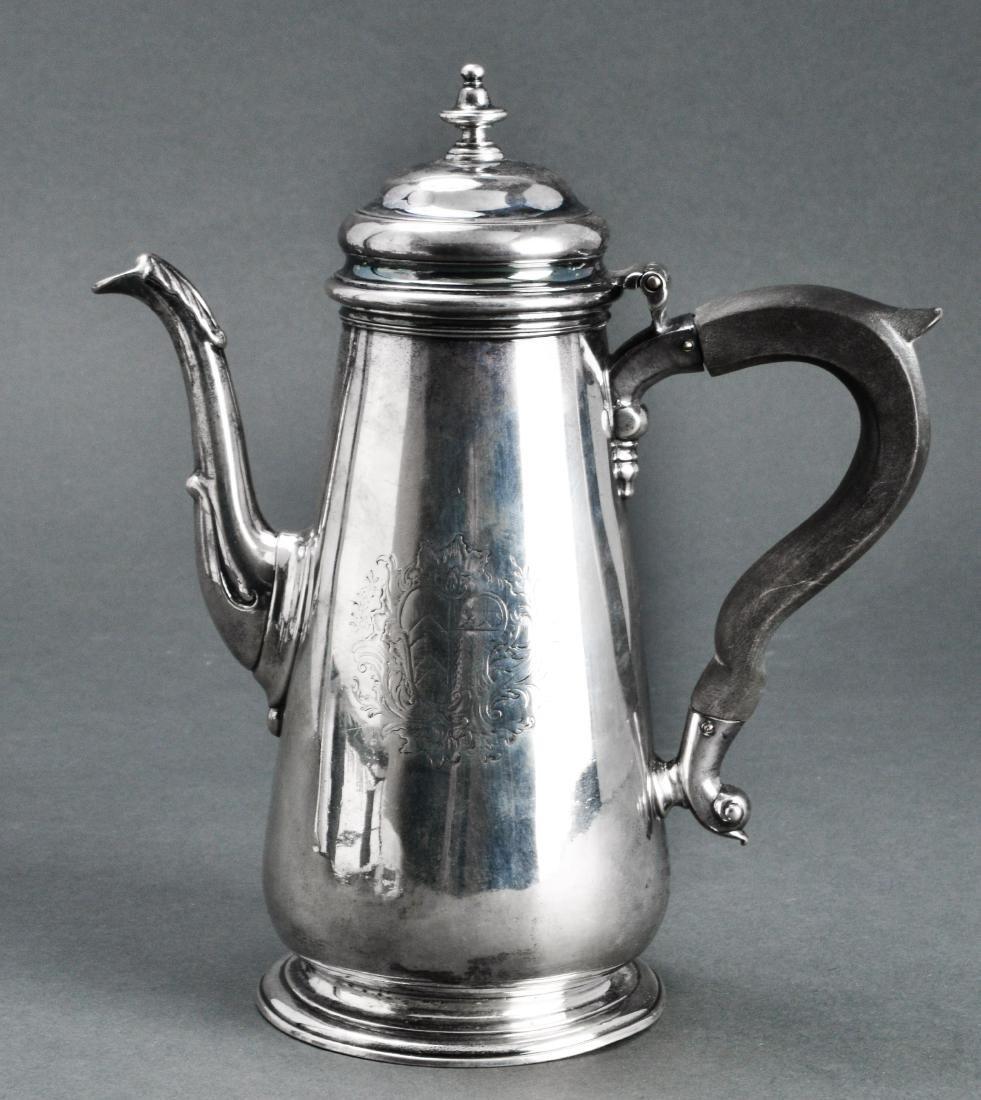 Thomas Whipham English Silver Chocolate Pot 18th C