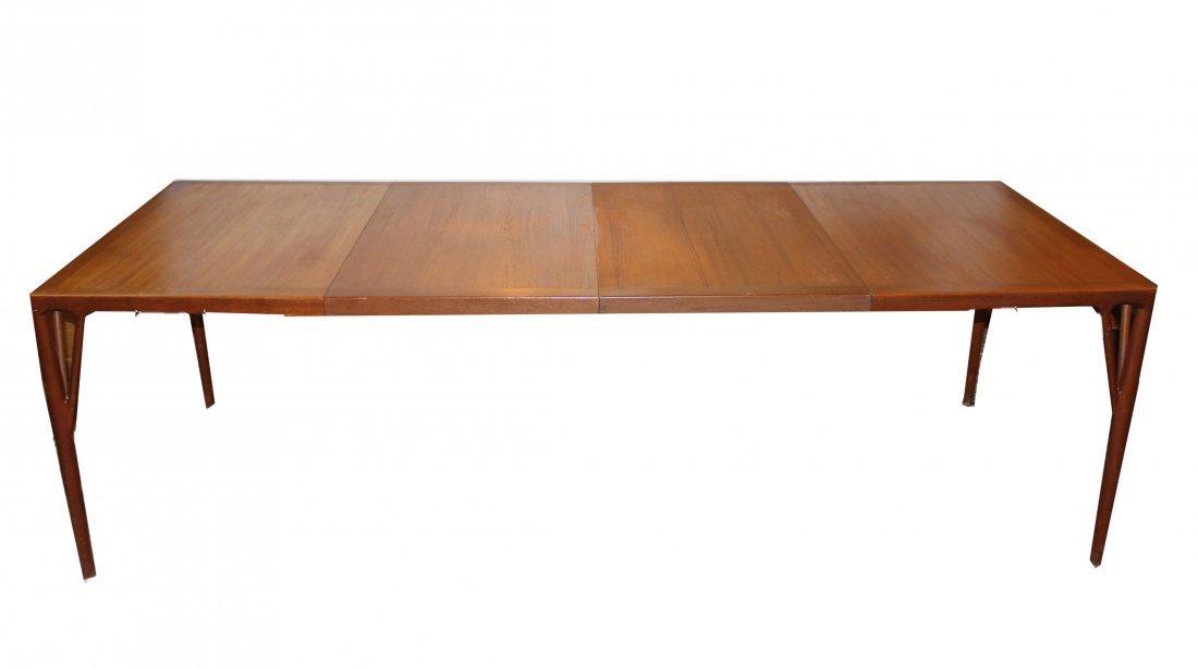 Danish Mid-Century Modern Dining Table w 2 Leaves