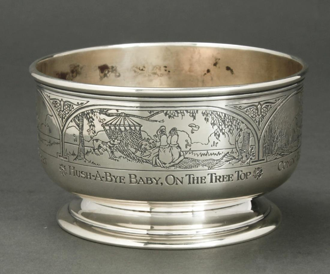 Kerr & Co for Cartier Sterling Silver Child's Bowl