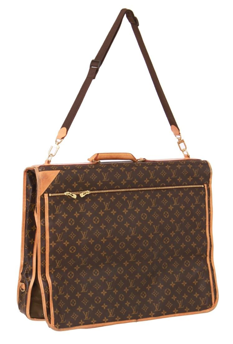 Louis Vuitton Leather Travel Garment Bag