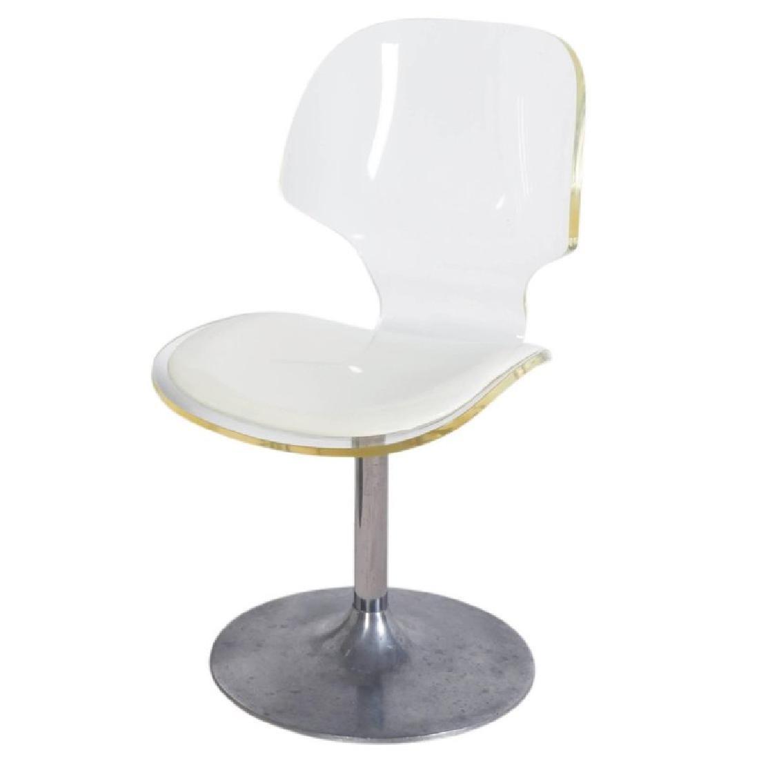 Hill MFG Lucite Chair on Aluminium Tulip Base