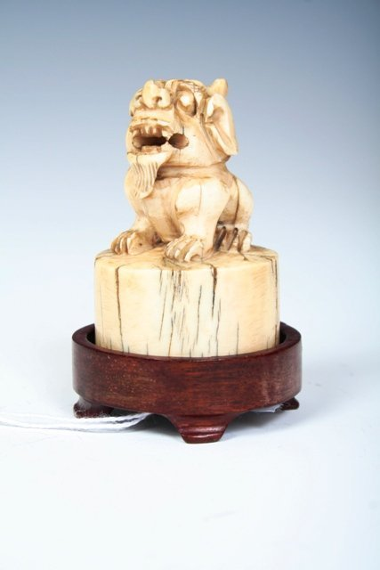 1008: 19th C. Chinese Seal with Stand
