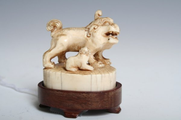 1009: 19th C. Chinese Seal with Stand