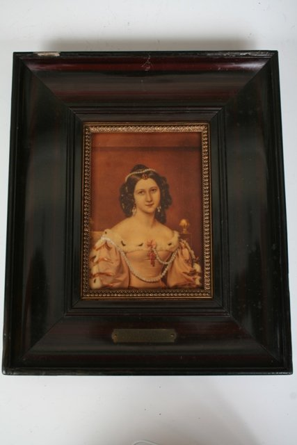 1010: Framed Porcelain Hand Painted Plaques