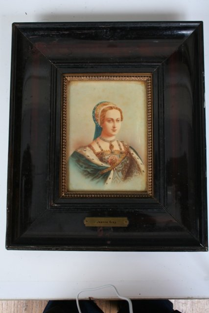 1011: Framed Hand Painted Porcelain Plaques