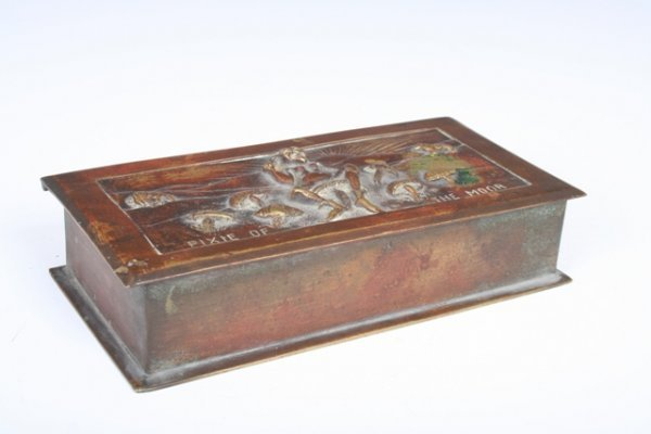 "1017: 19th C. English Bronze Box """"Pixie of the Moor"""
