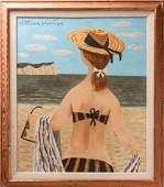 "Fletcher Martin ""Summer Girl"" Oil on Canvas"
