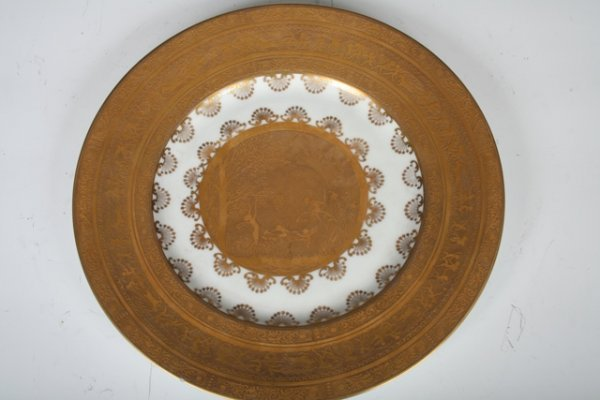 10: 19th C Bavarian Gilt Plate with Nymphs