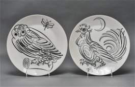 Fornasetti Uccelli Calligrafici Dinner Plates, 2