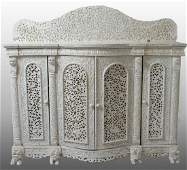 AngloIndian Ornately Carved Server  Sideboard