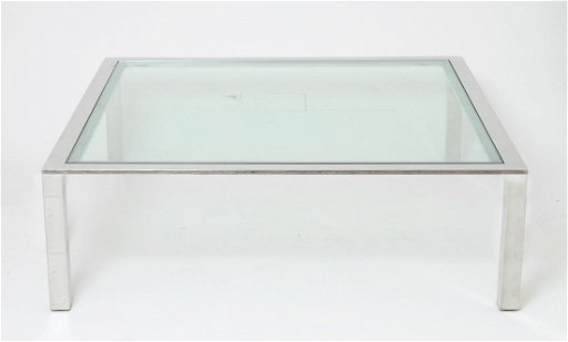 Astonishing Mid Century Modern Chrome Glass Coffee Table Home Interior And Landscaping Oversignezvosmurscom