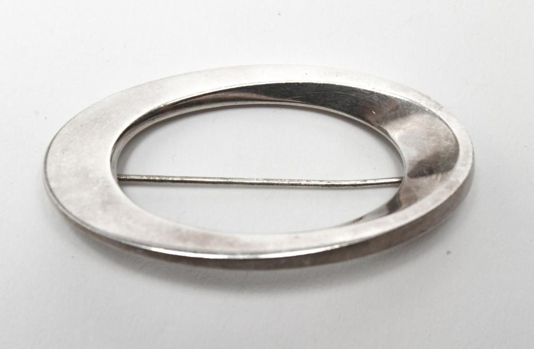 Hans Hansen Danish Silver Modern Brooch
