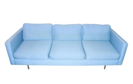 Astounding Mid Century Modern Blue Upholstered Sofa Aug 11 2019 Pabps2019 Chair Design Images Pabps2019Com