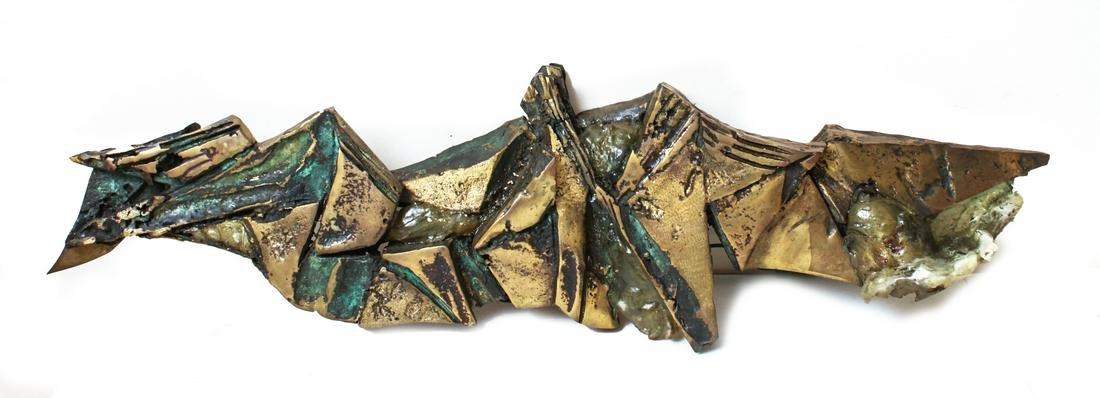 E. Fuhrman Bronze & Resin Sculpture Wall Sconce
