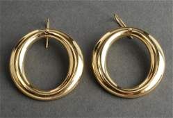 Tiffany & Co Peretti Sevillana 18K Gold O Earrings