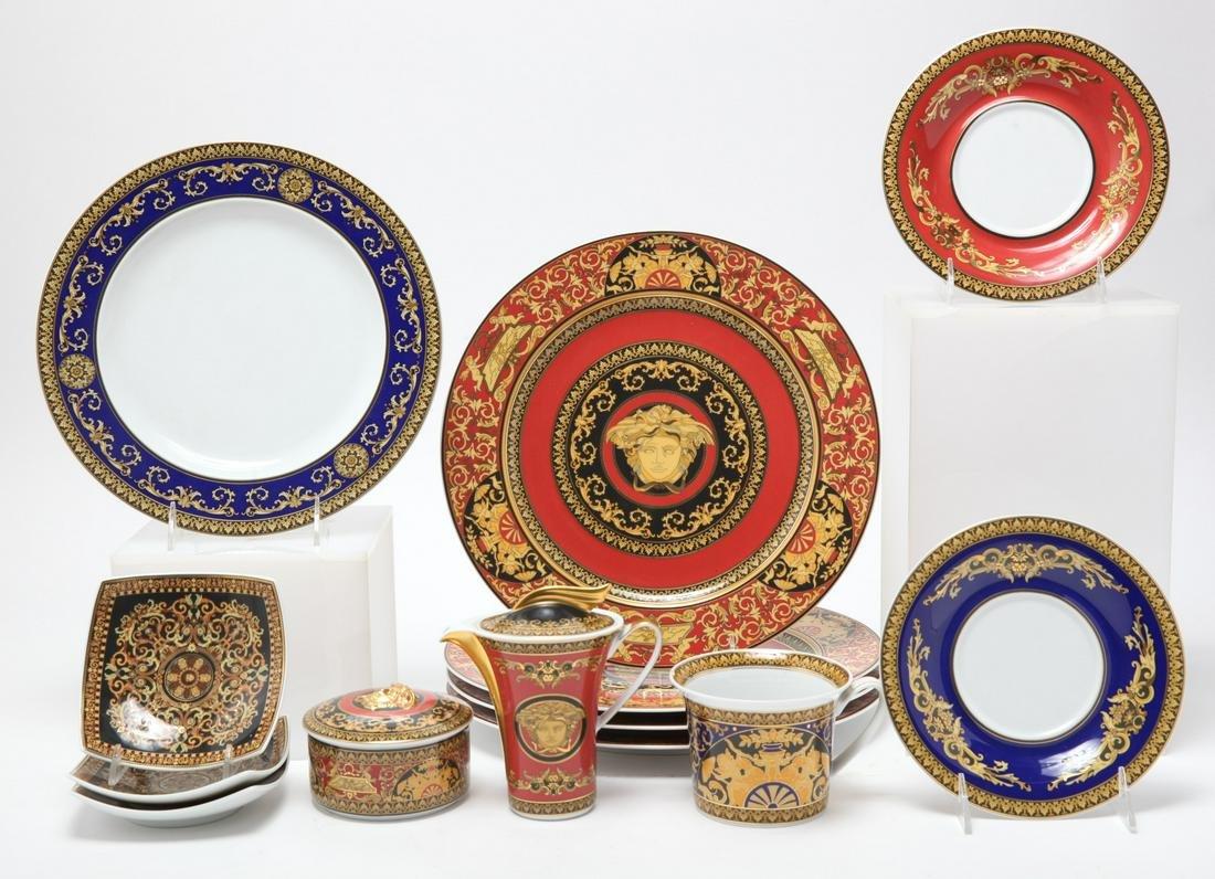 "Rosenthal Versace ""Medusa"" Porcelain Dishes 13 Pcs"
