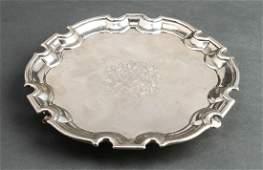Thomas Farrer George II English Silver Salver 1725