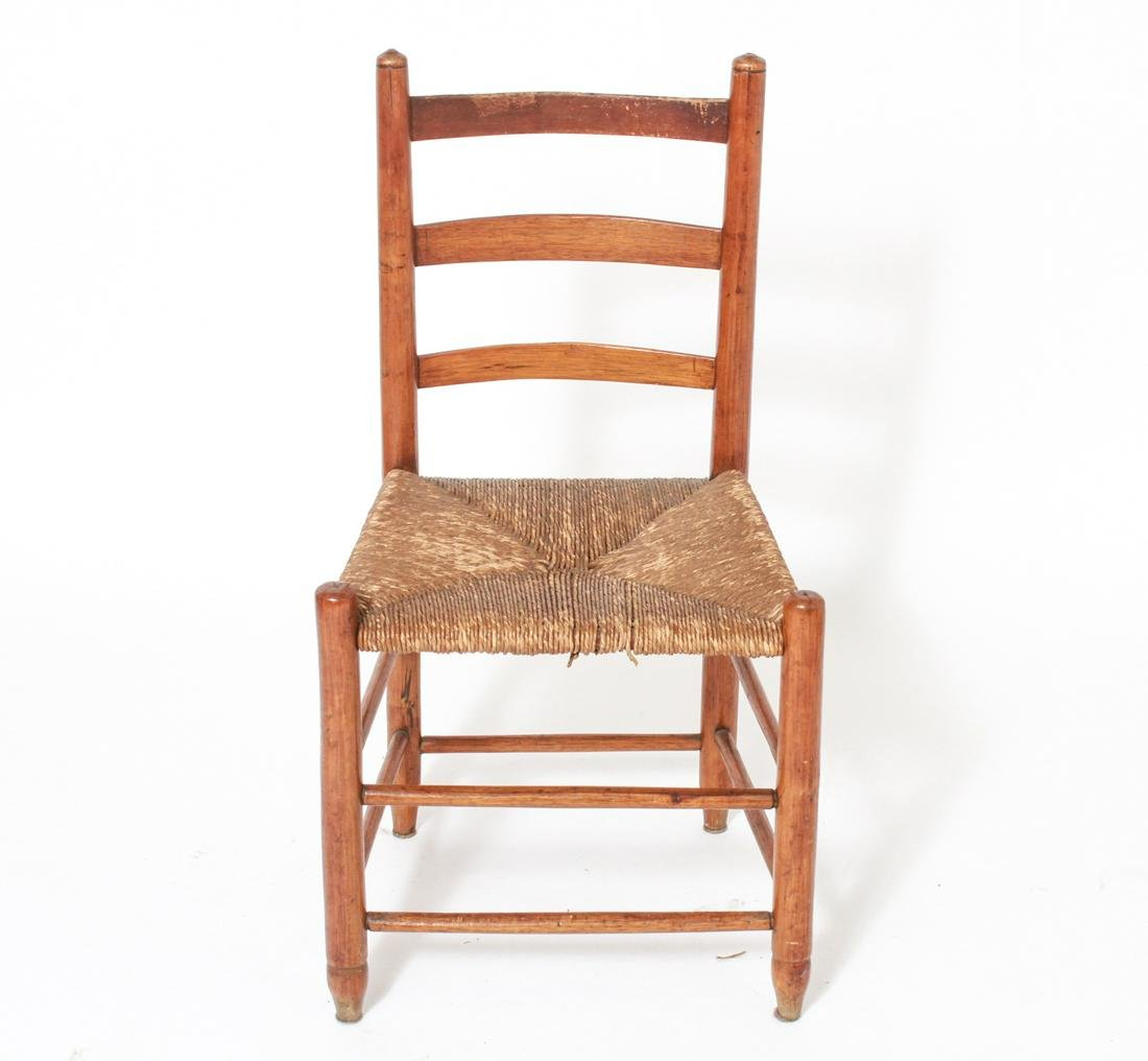Shaker Ladderback Side Chair w Rush Seat