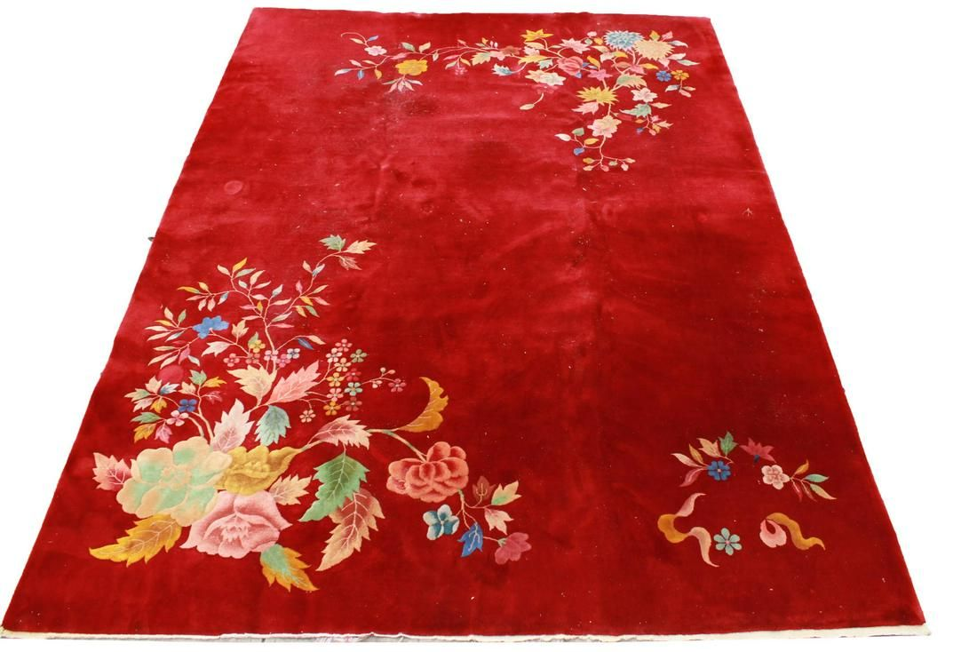 "Nichols Chinese Art Deco Carpet 8' 9.5"" x 11' 11"""