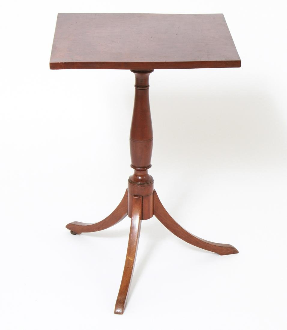 Federal Manner Square Top Tea Table w Tripod Base