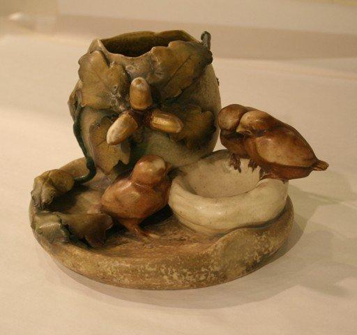 22: Amphora Ceramic Birds Nest Vase