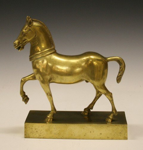 23: Art Deco Brass Horse