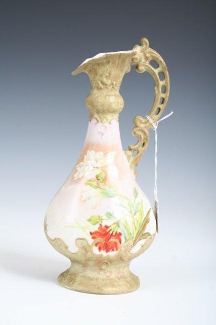 155: Austrian Porcelain Handpainted Ewer