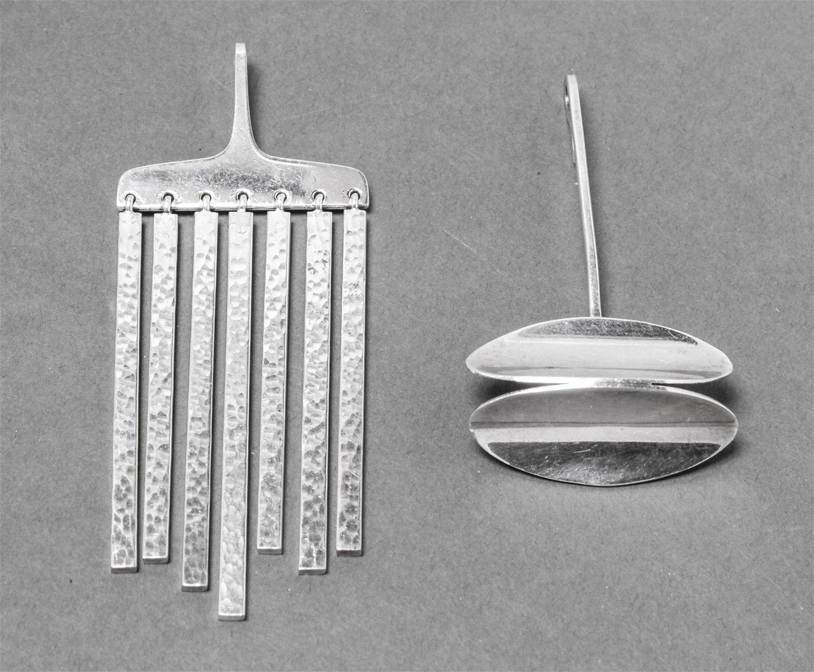 Hans Hansen & Warmind Danish Silver Pendants
