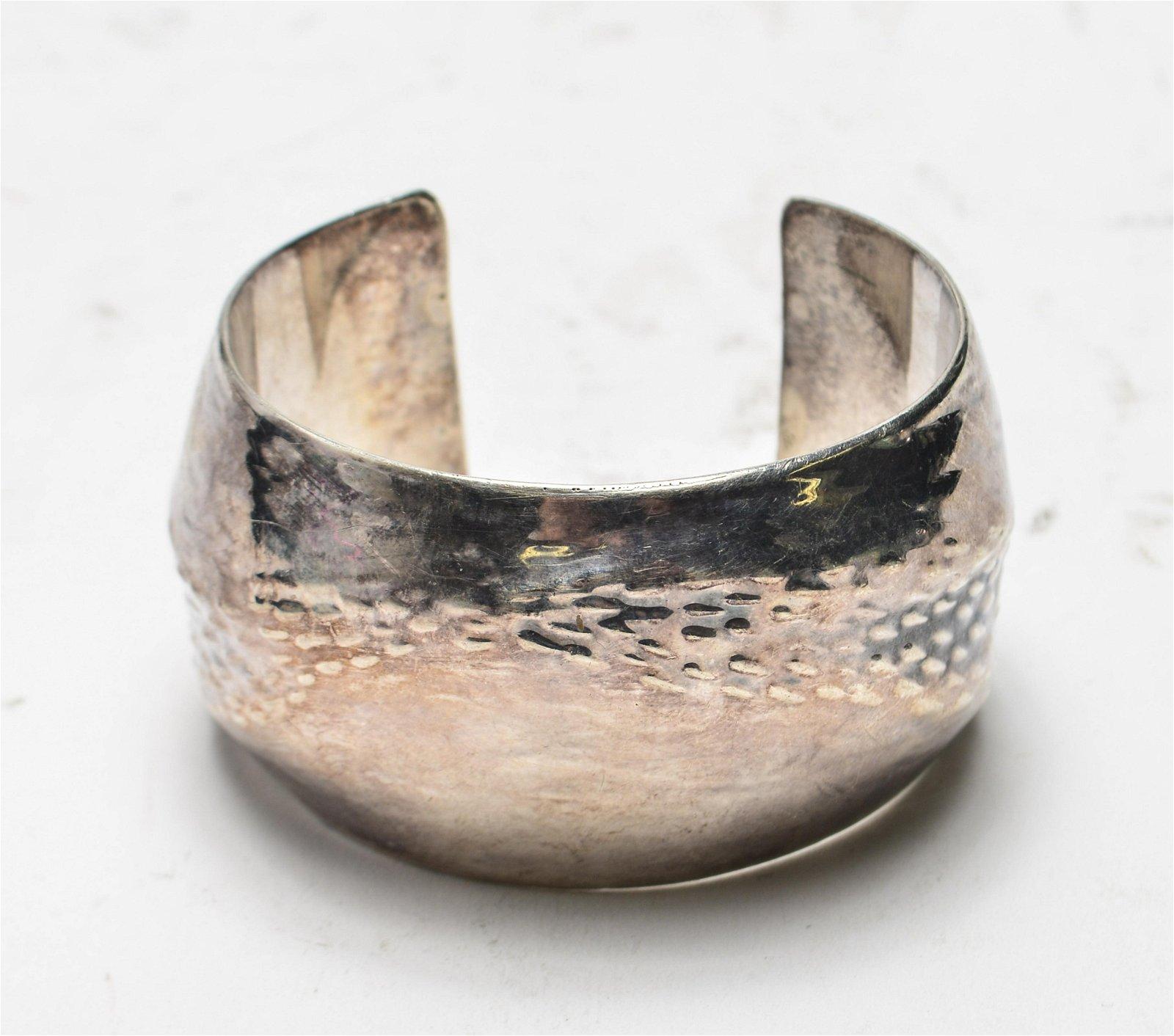 Hans Appenzeller Silver Signed Cuff Bracelet