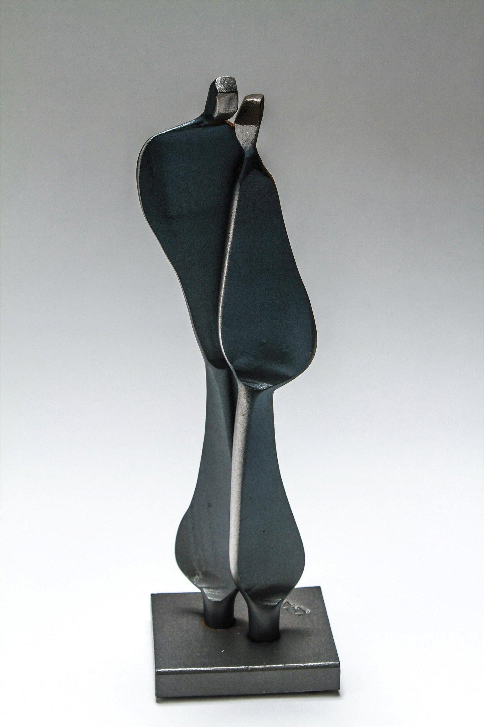 "Boris Kramer ""Quiet Encounter"" Steel Sculpture"