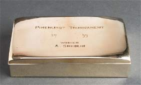 "Poole Silver ""Pinehurst Tournament"" Covered Box"