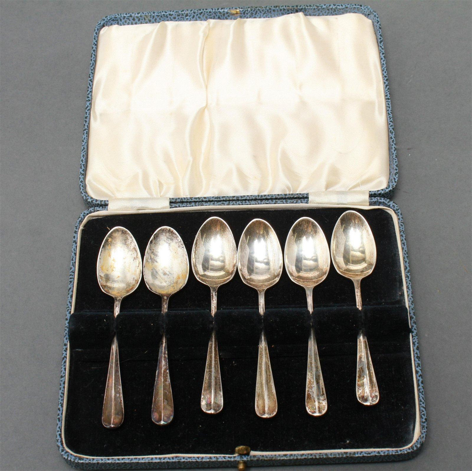 Sheffield English Silver Demitasse Spoons, 6 Pcs.