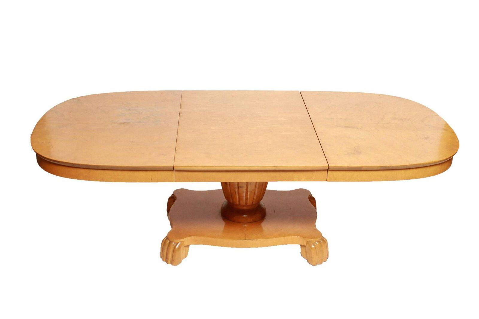 Biedermeier Oval Pedestal Coffee Table
