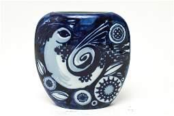 Bjorn Wiinblad for Rosenthal Blue & White Vase