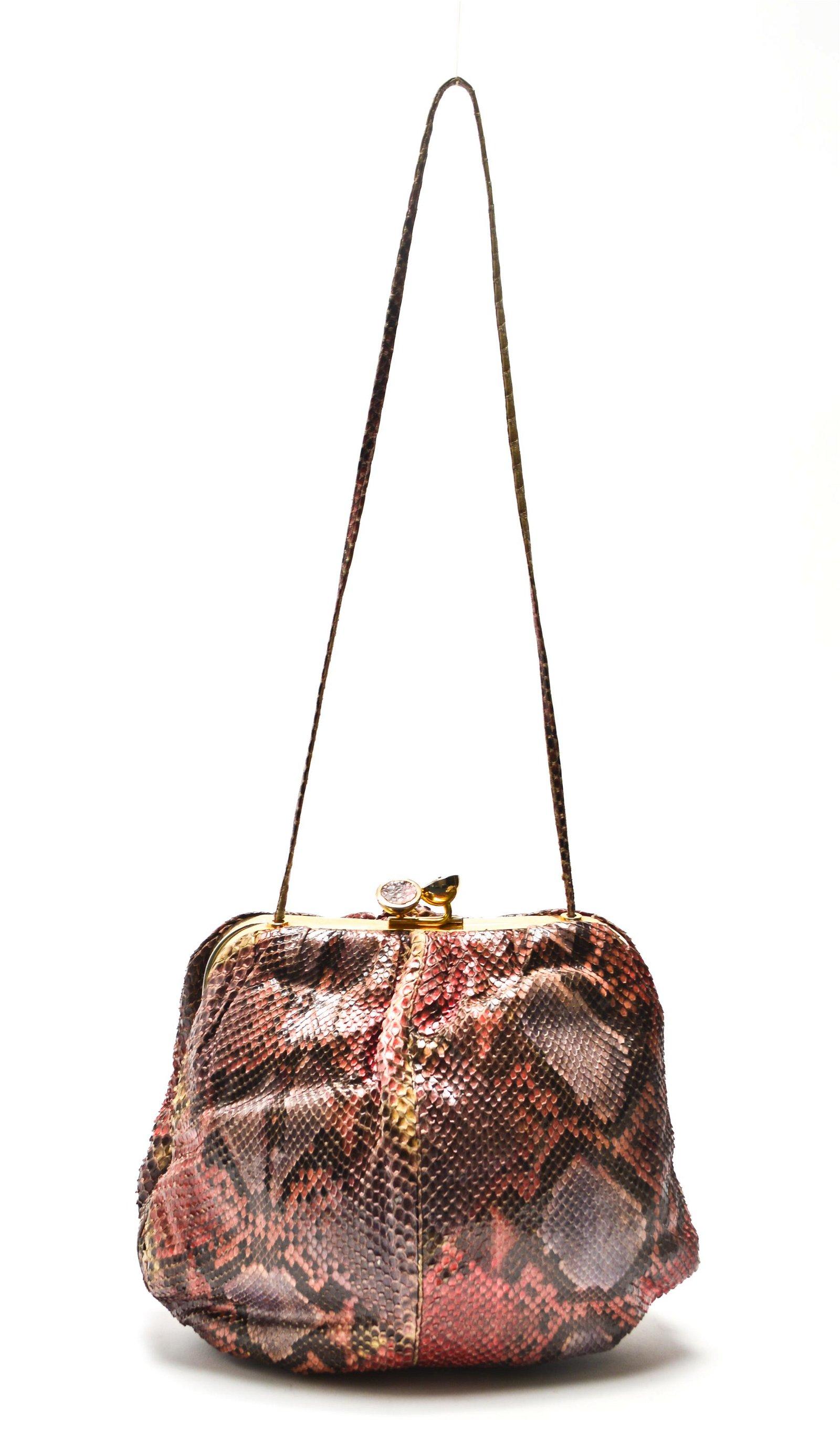 Judith Leiber Vintage Snakeskin Purse