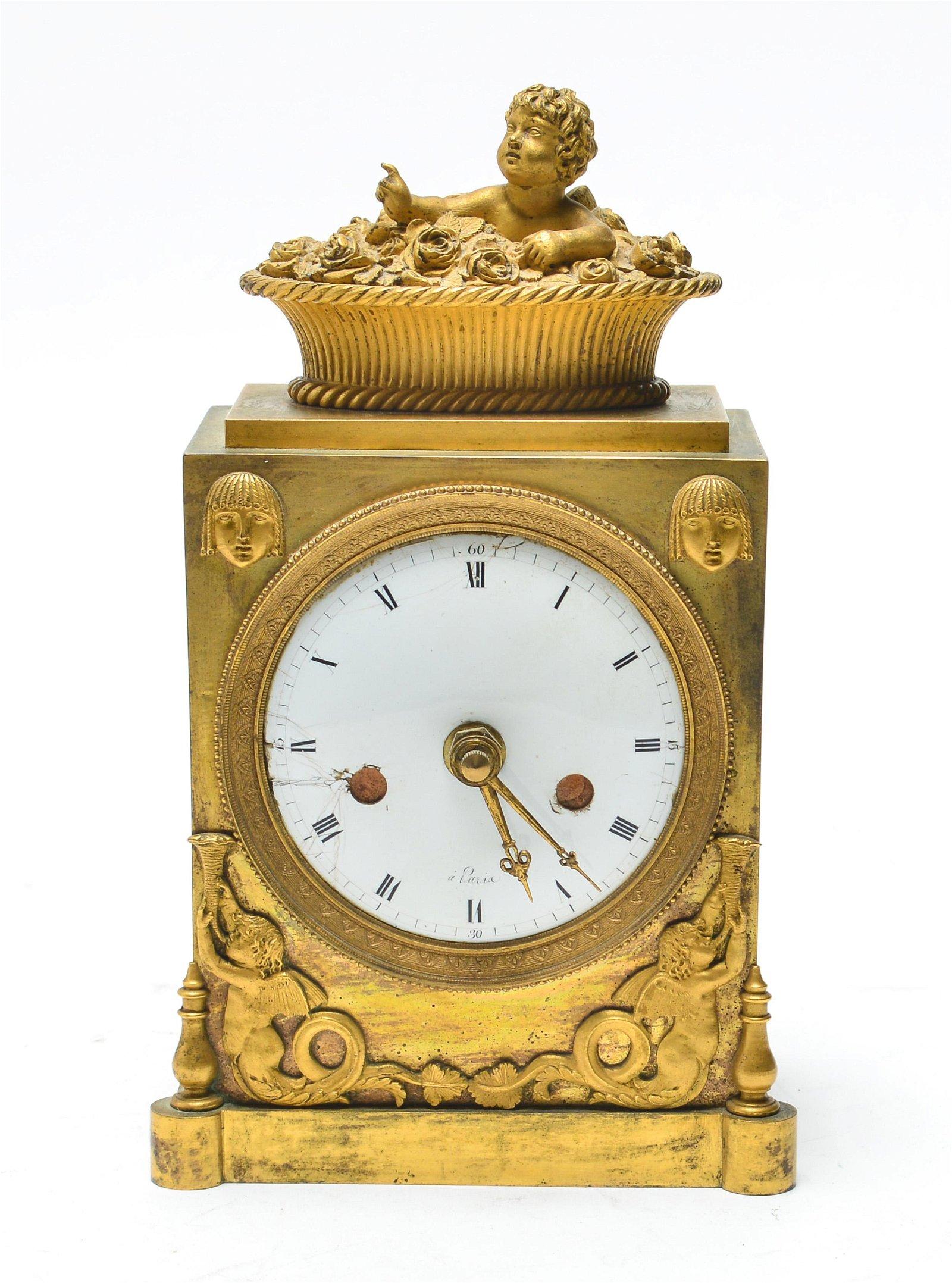 Neoclassical Gilt-Bronze Ormolu Clock Case