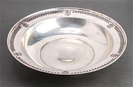 Manchester Silver Co Sterling Pierced Border Bowl