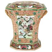 Chinese Qing Famille Rose Porcelain Bough Pot