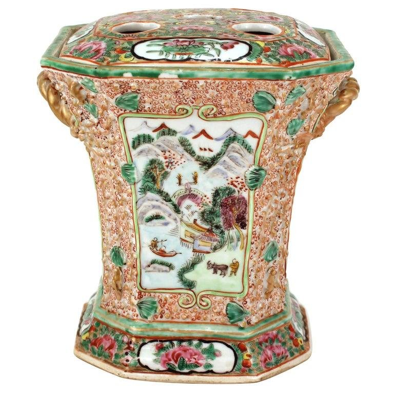 Chinese Qing Famille Rose Porcelain Bough Pot