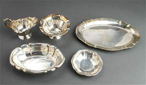 Continental Silver Small Trays Dishes  Creamer 5