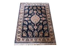 """Indo Persian Wool Floral Rug 3' 10"""" x 5' 10"""""""
