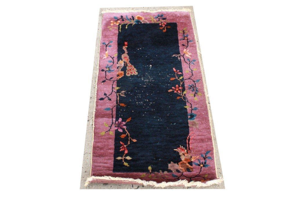"Nichols Chinese Art Deco Wool Rug 2' x 3' 10"""