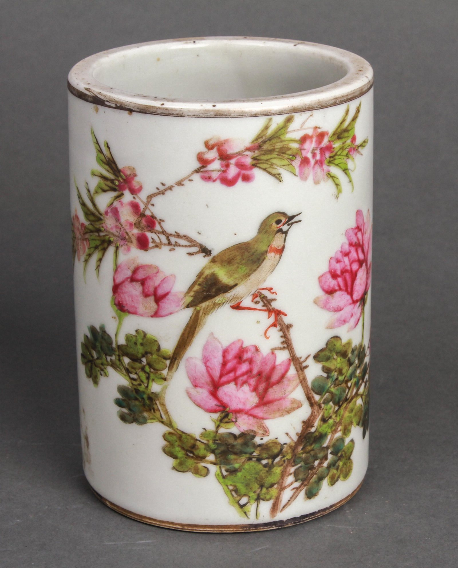 Chinese Hand-Painted Porcelain Brush Pot