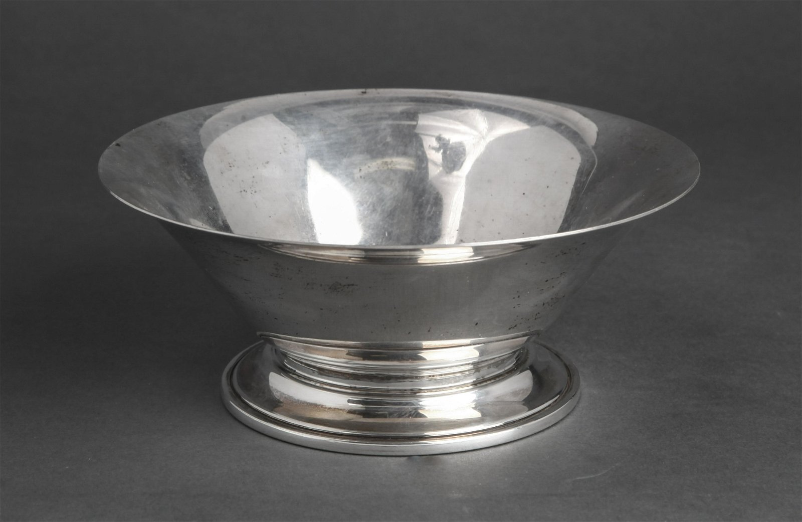 Georg Jensen Silver Footed Bowl w Flared Rim