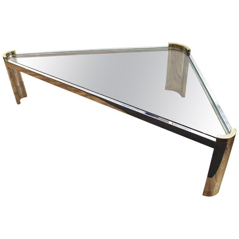 Jay Spectre Modern Triangular Coffee Table