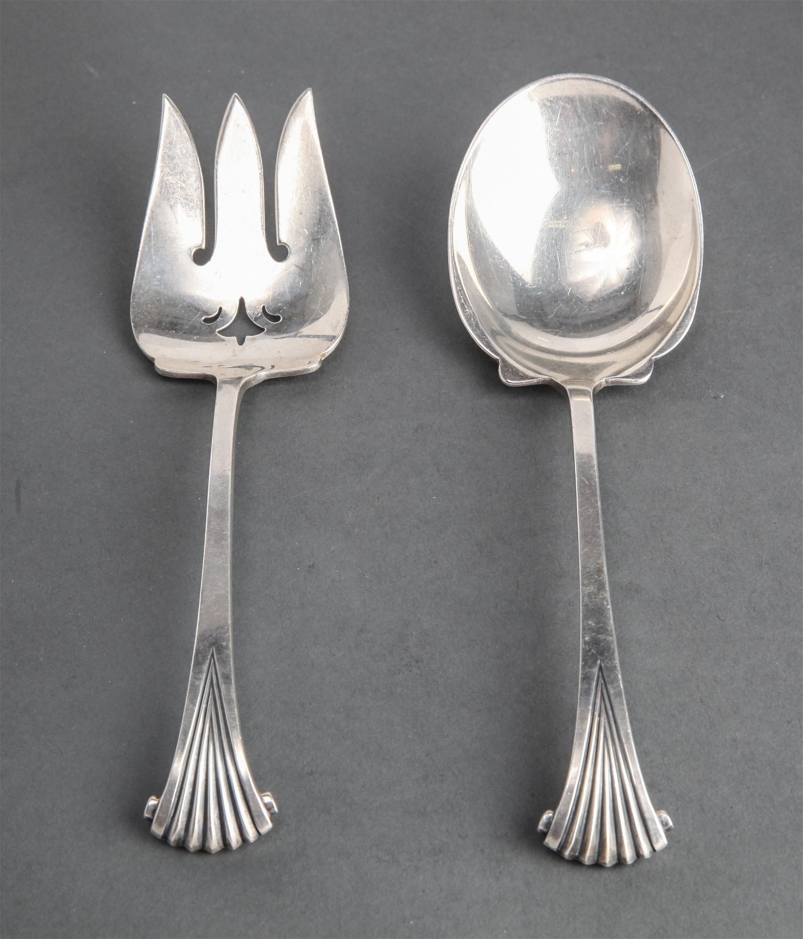 "Tuttle Silver ""Onslow"" Salad Servers, Pair"