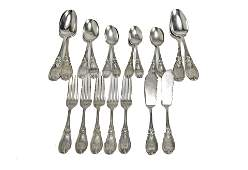 Tiffany  Co Sterling Silver Grecian Flatware 19