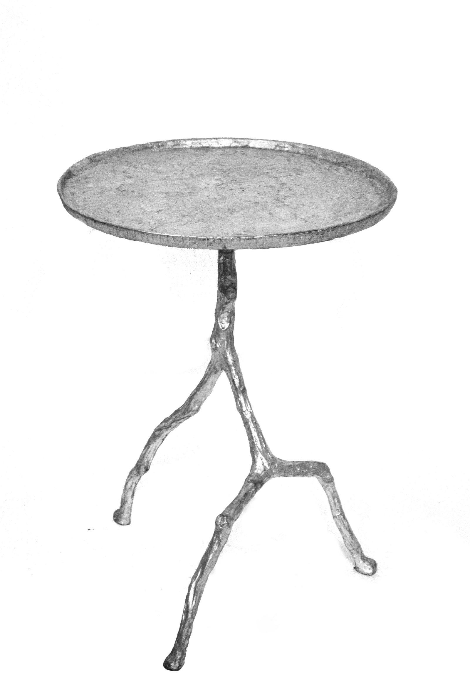 "Arteriors ""Forest Park"" Modern Iron Side Table"