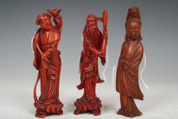 1009: 19th C Chinese Carved Boxwood Figures